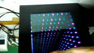 "10"" X 10"" Diy Led Infinity Mirror, Cyan And Purple"