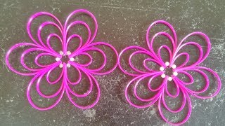Plastic Wire Flower Step by Step Clear Tutorial ( Design - 2 )