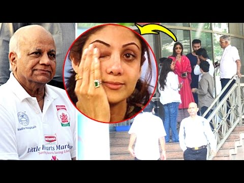 Emotional Shilpa Shetty At Hospital Where Her Father Passes Away Full Video HD