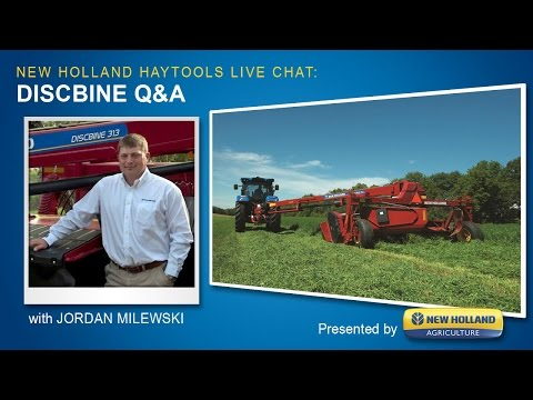 New Holland Haytools Discbine Chat w/Jordan Milewski (Live Stream)