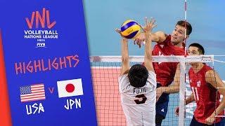 USA vs. JAPAN - Highlights Men | Week 4 | Volleyball Nations League 2019