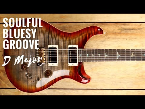Soulful Bluesy Groove | Guitar Backing Track Jam in D