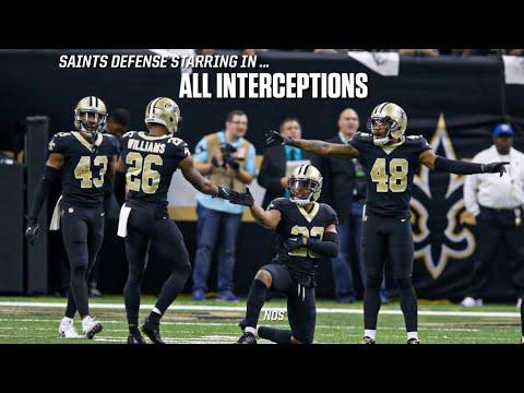 New Orleans Saints    All Interceptions    2018 Saints Highlights