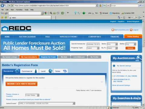 How to Bid in REO Real Estate Auction Online w REDC