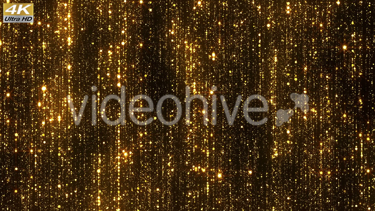 Glitter golden particles rain glamour background awards falling sparkle footage 4k uhd youtube - Glamour background ...