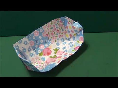 簡単 折り紙:折り紙 皿 折り方-youtube.com