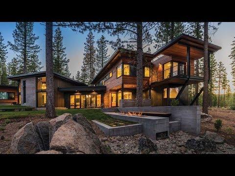 Gorgeous Prefab Mountain Cabin With A Semi Circular Layout