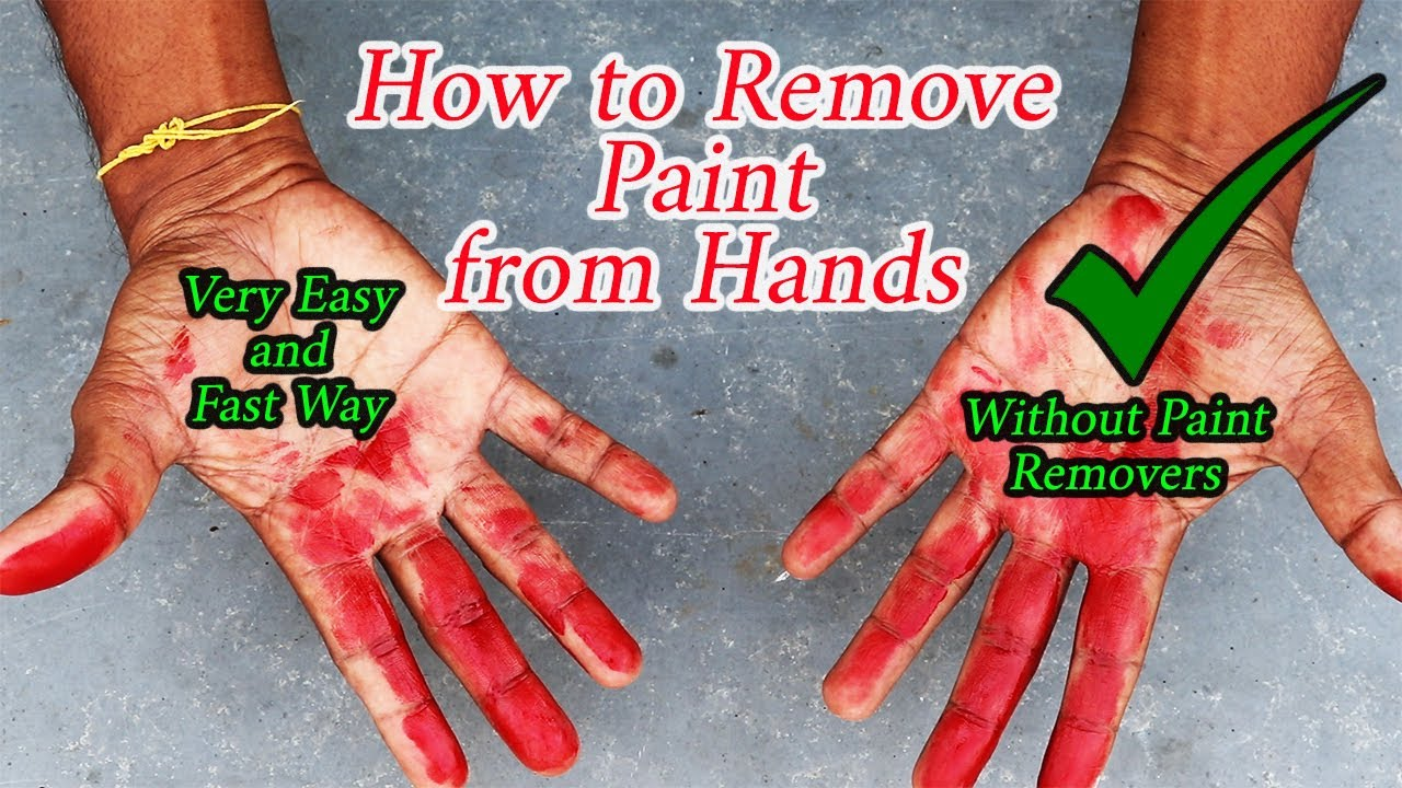 How to Remove Paint from Hands