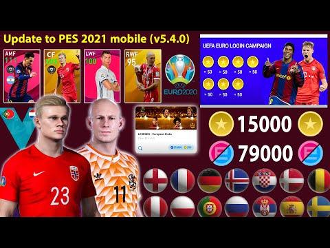 تحديث اليورو الاسطوري قادم (v5.4.0) 😱🔥 Pes 2021 Mobile