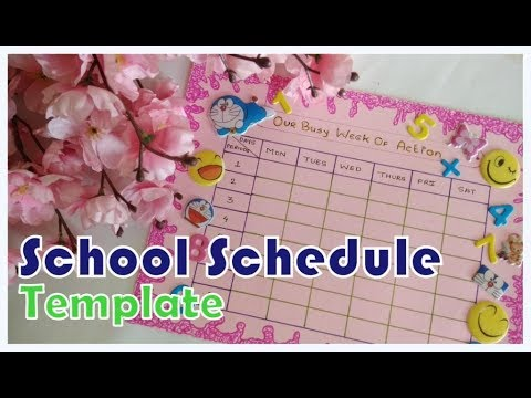 diy make your own school timetable schedule template 111