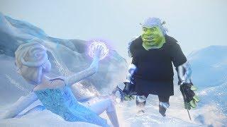 Shrek VS Frozen Elsa: Donkey`s Trap
