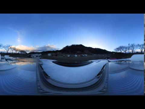 田代運動公園キャンプ場、Nikon KeyMission 360で、タイムプラス動画