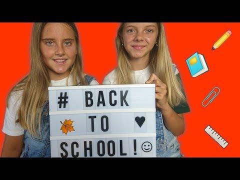 BACK TO SCHOOL!!! ВИДЕО СНОВА В ШКОЛУ! Катя и Ксюша показывают покупки к школе // Радужки