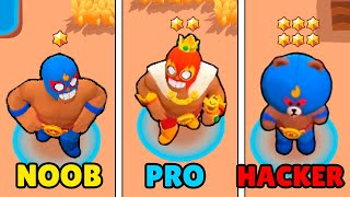 NOOB vs PRO vs HACKER in Brawl Stars! Wins & Fails #53