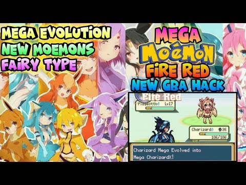 NEW! Pokemon Mega Moemon Fire Red Gba Hack With Mega Evolution,New