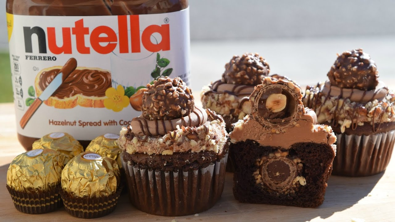 Ferrero rocher cupcakes recipe nutella