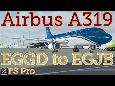 Airbus A319 Bristol (EGGD) to Guernsey (EGJB)