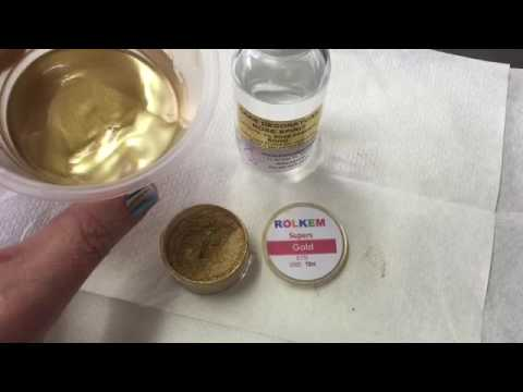 How to make edible gold paint for splatter effect youtube for How to make metallic paint