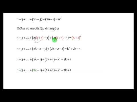 Τρείς ασκήσεις στη μαθηματική επαγωγή
