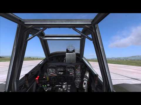 DCS BF109 K4- How to: Motorstart, Abheben und Landen (German)