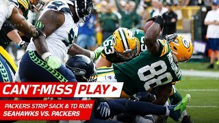 Packers Force Fumble on Wilson & Montgomery Gets the TD! | Can