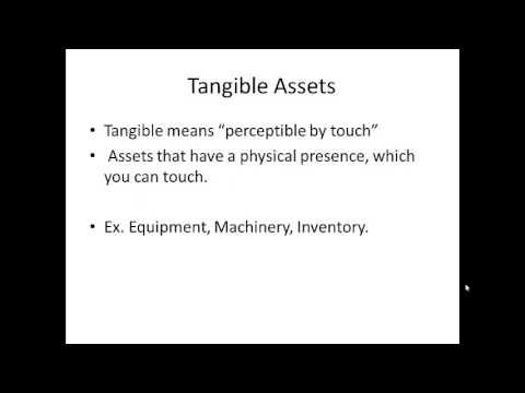 Intangible vs Tangible Assets Tutorial
