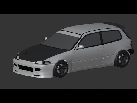 Blender / Honda Civic EG6 Rebuild