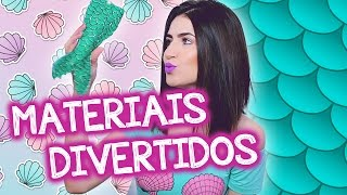 DIY MATERIAL ESCOLAR DIVERTIDO  - SEREIA E UNICÓRNIO!