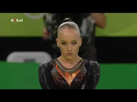 Rio Olympics 2016: Sanne Wevers wins gold on beam, Dutch television.