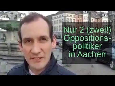 Nur  2 (zwei!) Vertreter aller Oppositionspolitiker in Aachen. Norbert Kleinwächter auf Facebook