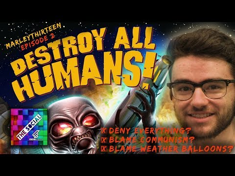 LET'S PLAY DESTROY ALL HUMANS PART 2 | Marley