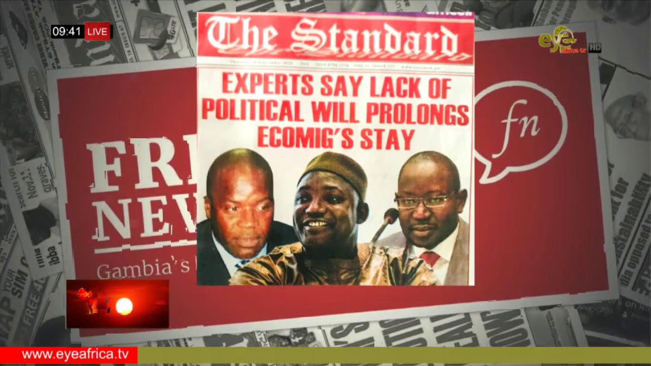 Download EXPERTS SAY LACK OF POLITICAL WILL PROLONGS ECOMIG'S STAY: STANDARD NEWSPAPER