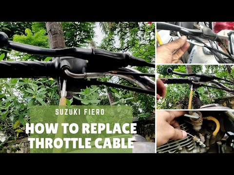 How to replace throttle cable on Suzuki Fiero | DIY