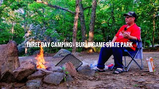 Three day tent camṗing - Burlingame state park Rhode island opt