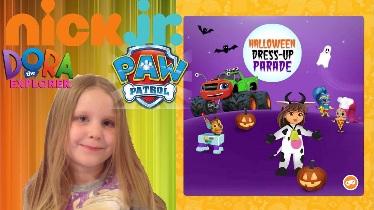 dora paw patrol shimmer shine halloween parade nickjr youtube