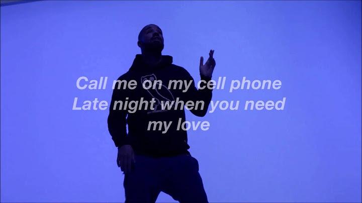 drake  hotling bling lyric video