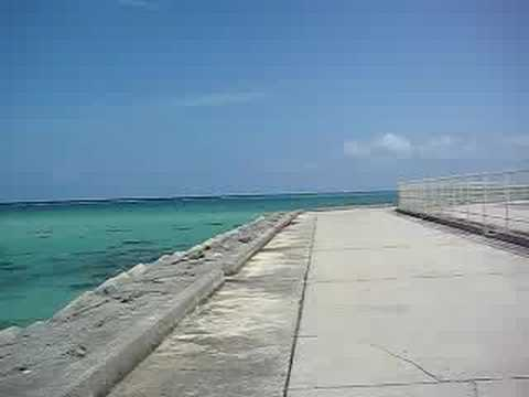 青い海を見ながらのんびり自転車で走る