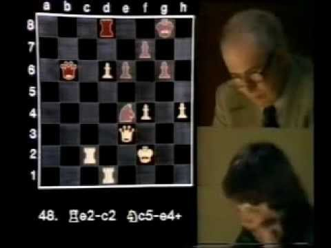 Nigel Short vs Robert Byrne. Ajedrez televisado 1980 .Subtitulos Español