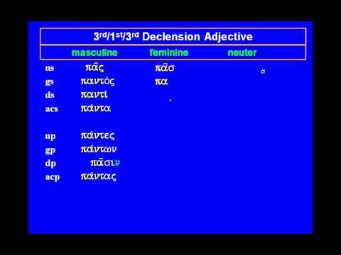 Greek Adjective: pas, pasa, pan