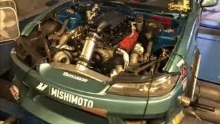 S14 240sx LSX Twin Turbo Dyno