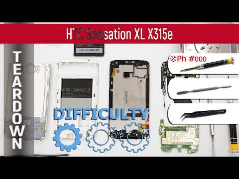 How to disassemble 📱 HTC Sensation XL X315e (PI39200) Take Apart, Tutorial