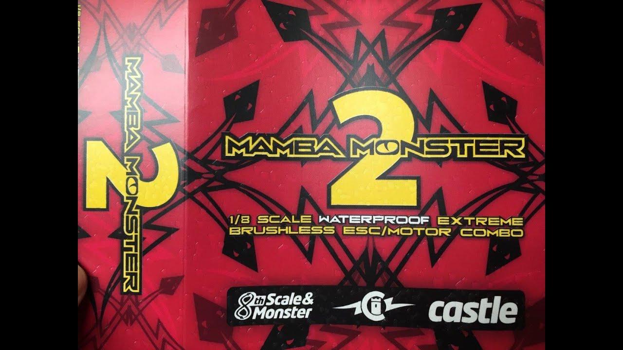 castle creations 1/8 scale mamba monster 2 esc & 2200kv motor combo unboxing