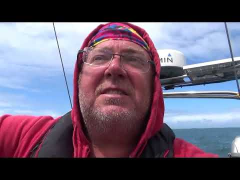Wandering Steve sailing Scilly Isles to a safe mooring in New Grimsby Sound to avoid bad weather