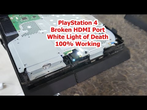 PS4 HDMI Port Repair - White Light of Death Fix - No Signal 100% Fix