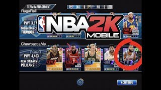 New Onyx Foil Starter! NBA 2K Mobile #33 - Legend League Game 4403 team power