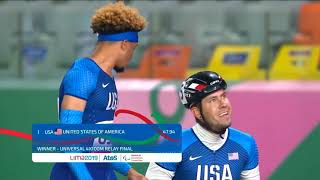 Team USA Wins Gold In The Universal 4x100m Relay  | Parapan American Games Lima 2019
