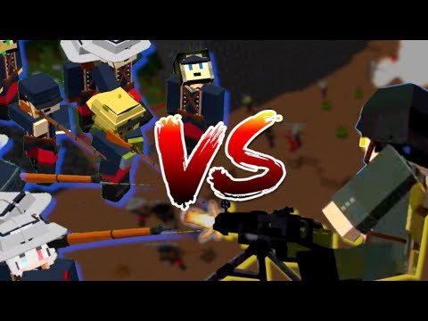 Minecraft Players Vs Admins: World War Edition (Flans Mod Server)