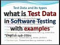 What is Test Data and its types  real time examples - YouTube