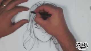 Como desenhar - Cabelo Mangá #1 (how to manga hair)