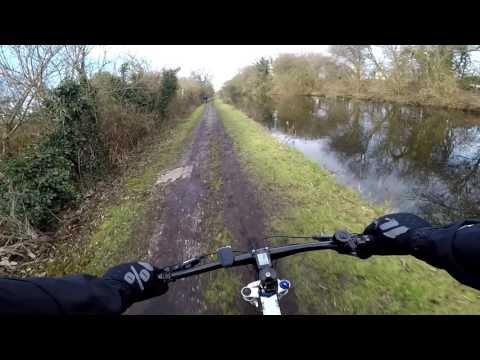 Real Life - Cycling up the Muddy and Rocky Grand Union Canal Tow Path (POV)